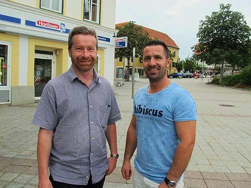 Karl Bauer (links) und Valton Halimi