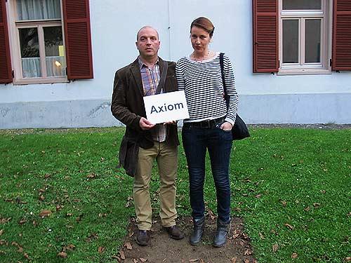Die Kunstschaffenden Milan Bosnic und Milica Milicevic in Gleisdorf