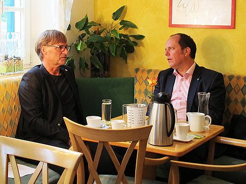 Die Bürgermeister Erwin Eggenreich (links) Und Christoph Stark