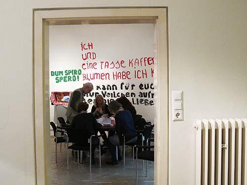 Der Projektraum in der Akademie Graz