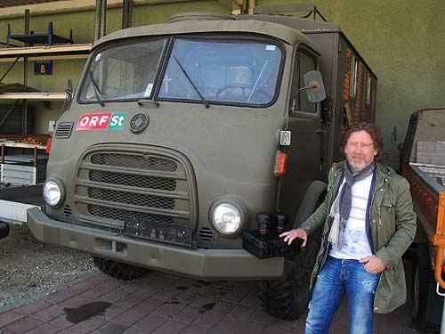 Heimo Müller und sein Blogmobil