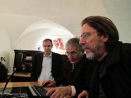 Von links: Industriedesigner Alfred Urleb, Unternehmer Ewald Ulrich und Blogmobilist Heimo Müller