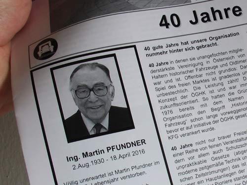 Abchied von Martin Pfundner