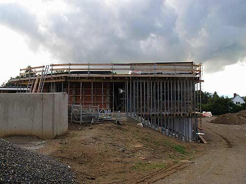 Die stattliche Baustelle soll der Gemeinde ein neues Zentrum geben