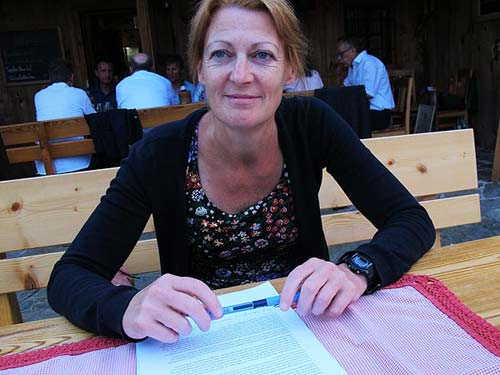 Ursula Gläser vom Kulturbüro Stainz