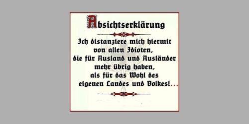 Vaterländische Konzeptlosigkeit (Quelle: Facebook, )