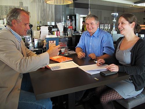 Von links: Peter Moser, Ewald Ulrich und Nicole Schuster