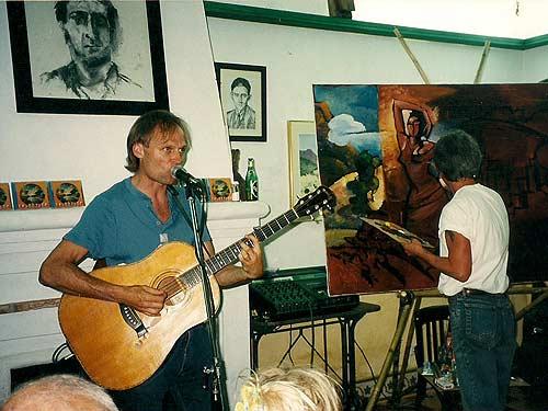 Eine frühe Session: Chuck LeMonds (links) und Chris Scheier. (Foto: Archiv LeMonds)