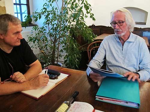 Ewald Ulrich (links) und Winfried Lehmann