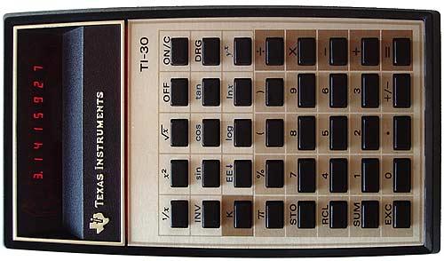 Ein Beispiel von 1976: Der TI-30 von Texas Instruments. Ein leistungsfähiger Taschenrechner an der Schwelle zum Personal Computer. (Foto: D. Meyer, Creative Commons)